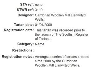 Official Clan HOPKINS 5940 Tartan