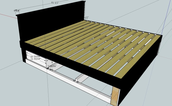 ... Platform Bed Plans With Drawers bedroom storage bench plans Building