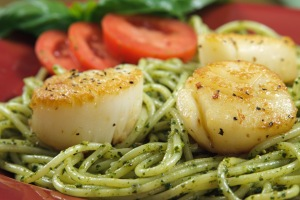 Coat shrimp or serve seafood with pasta