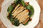 Wilted Spinach Salad with Chicken or Seafood